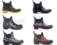 Joules WELLIBOB Womens Ladies Short Stylish Rubber Wellington Boots Wellies