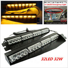 32led Amber Visor Light Strobe Light Bar Emergency Warning Lamp For Car Truck