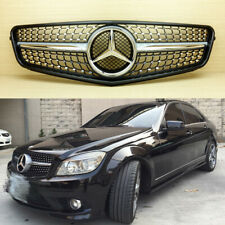 AMG Style Diamond Single Fin Grille Fits Mercedes C Class W204 2007-14