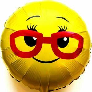 R36F9 Helium Folienballon Frauen Brille Emoji Hochzeit Deko Geburtstag Geschenk