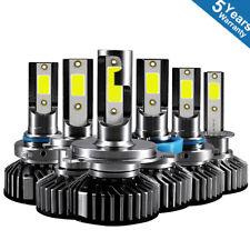 4X H4 H7 LED Headlight Bulbs 100W 4300K 20000 Lumens Extremely Bright 9003 Hi/Lo