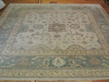 RARE oversize square Oushak 13x13, 13x14  Oriental Area Rug green yellow brown