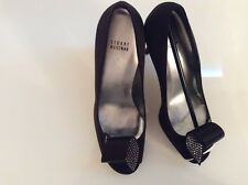 stunning New Stuart Weitzman black prom embllished with crystal size 10