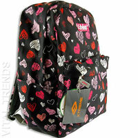 Girls School Backpack Rucksack College Canvas Travel Leisure Shoulder Bag