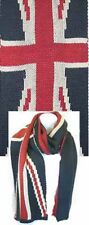 F1674R  Union Jack UK Flag Double Knitted Scarf (By Dozen) Lot of 12 pieces