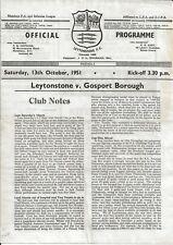More details for leytonstone v gosport borough ~ 13 october 1951 ~ friendly fixture