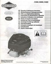 Briggs & Stratton Various Models Els Series Engine Operator'S Maintenance Manual