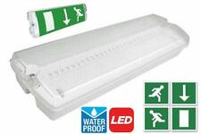 5W LED Emergency Light Bulkhead Exit Sign IP65 Maintained Or Non Maintained