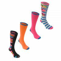 4 X Miss Fiori Knee High Socks Ladies UK 4 - 8 A131-21