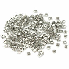 7mm Pyramid Studs Spots Spike Silver Color Punk Rock 200pcs Metal Leather bnv