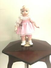 Kingstate porcelain doll girl 14 inches blue eyes blonde hair painted
