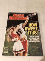 1988 Sports Illustrated MIAMI HURRICANES vs OKLAHOMA NewsStand NATIONAL CHAMPS