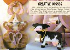 CREATIVE KISSES BUNNY & COW SEWING PLASTIC CANVAS PATTERN INSTRUCTIONS