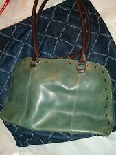 Tignanello leather Green handbag