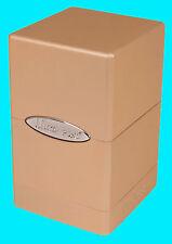 ULTRA PRO METALLIC CARAMEL SATIN TOWER DECK BOX New Card Dice Compartment MTG