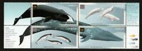 WHALES =NARWAL, BELUGA, BOWHEAD, BLUE WHALE = Bl of 4 V3 Canada 2000 #1871a MNH