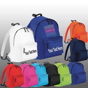 Personalised Zamfam Back To School Rebecca Zamolo Kids Boys Girls YouTuber Bag