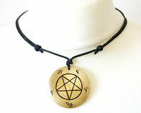 Church of Satan Inverted Pentagram Symbol Necklace Large Pendant Satanism Devil
