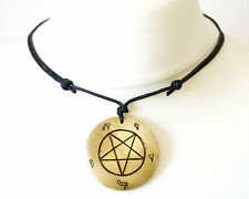 Iglesia de Satán Pentagrama invertido Símbolo Collar Grande Colgante Satanismo Diablo