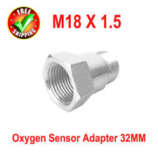 O2 Oxygen Sensor Adapter Bung Test Pipe Extension Extender Spacer 32MM M18 X 1.5