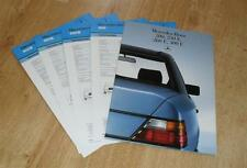 Mercedes Benz 200 230E 260E 300E W124 Saloon Brochure With Spec Sheets 1986