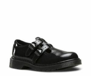 Dr Martens 8065J Black Patent Bar Shoe