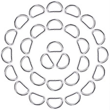 eBoot 50 Pack Metal D Ring 1 Inch Silver