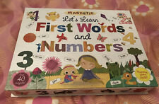 Magnetic Lets Learn First Words And Numbers