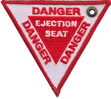 Gefahr Auswurf Sitz Royal Air Force Raf Doppelseitig Bestickt Tuch Schlüsselring