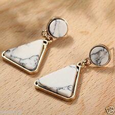 Ear Stud Hoop earrings 141 Handmade Woman's White Crystal Rhinestone Long