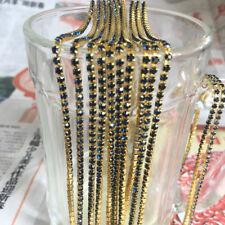 SS8 (2.5mm) Crystal Rhinestone Close Chain Trim Sewing Craft DIY Crystal Chain C