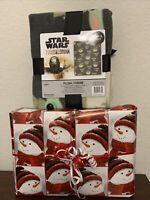 "Star Wars/Disney -The Mandalorian -Baby Yoda The Child Fleece Blanket 40x50""NEW"