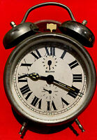 Collectors, Vintage  Bulova Stainless Wind Up Alarm Clock Germany