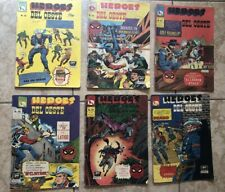 Vintage Mexican 1960s HEROS DEL OESTE Comic Book Lot - Spider-Man On Covers Rare