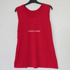 Gestreifte ärmellose Damen-Shirts in Übergröße