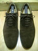 Men's Shoes JOHNSTON & MURPHY SIGNATURE SERIES Oxfords Sz 10 Dark Brown Suede