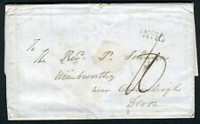 1836 Entire from Brislington House used to Devon of the scarer unframed No.13