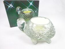 Avon Sparkling Glass Turtle container Meadow morn fragrance Candlette NWB