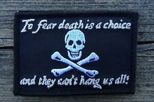 Pirate Black Sails Charles Vane 3X 2 (hook &  loop) Patch