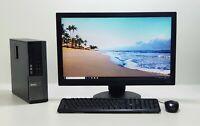 "SALE !!! DELL PC SET INTEL 3.3 GHZ 250 GB HD 22"" TFT 4 GB DDR3 WI-FI Windows 10"