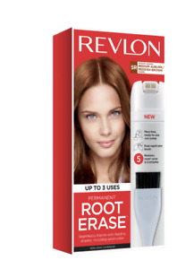 Revlon Permanent Root Erase, 5R Medium Auburn Reddish Brown, Up To 3 Uses