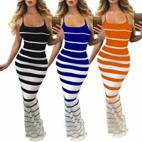 Women's Bandage Bodycon Sleeveless Evening Party Cocktail Beach Long Maxi Dress