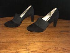 ANNE KLEIN iflex Caileen Black Suede Leather Pumps Heels Shoes Sz 9.5 M