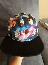 Rick and Morty Ball Cap Flat Bill Snapback Black Adult Swim Hat