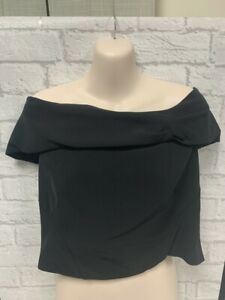 Coast Black Structured Bardot Top Brand new With Tags