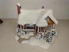 Thomas Kinkade Telaflora Lighted Christmas Cottage 'Childhood Home' 2008