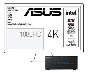 ASUS MINIPC INTEL J4005  2,7GHZ IN BURST MODE, SSD 256 GB, 8GB RAM WIN 10 PRO