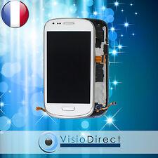 Ecran vitre complet sur chassis pour Samsung Galaxy S3 mini i8190 blanc