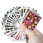 50pcs Colorful Mixed Nail Art Wrap Water Transfer Flower Fish Decals Sticker DIY