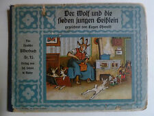 Scholz Kinderbücher, Wolf sieben Geißlein, Märchen, Märchenbücher, Scholz Mainz,